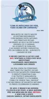 Samuca - samba-enredo