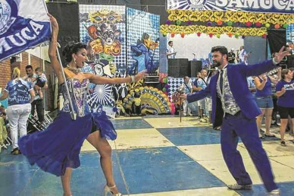Os cinco sambas-enredos concorrentes foram apresentados na festa na quadra da escola