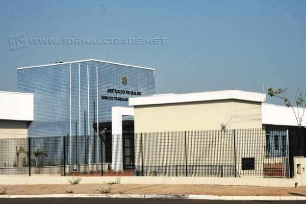 Vista da fachada do novo prédio da Vara do Trabalho de Rio Claro, que tem 1.067,23 m²