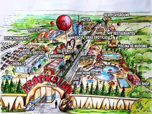 Imagem mostra ideia de como será o parque (Foto: Arte/Soft Love)