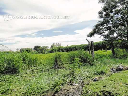 Terreno da antiga lagoa seca do Wenzel, onde foram detectados resíduos contaminantes