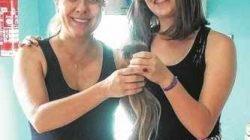 Amanda Estafany Mariano, de 15 anos, cortou e entregou seu cabelo ao Grupo de Apoio à Criança com Câncer de Rio Claro