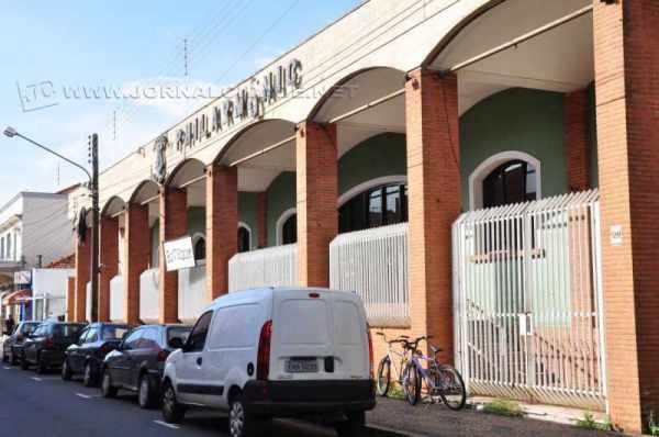 Fachada da Sociedade Philarmônica fundada em substituição ao Club Palestra, e extensão da Sociedade Occarinista