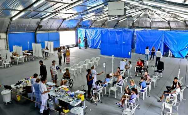 Em 2015, Rio Claro tornou-se ícone na assistência a pacientes com dengue quando montou o Centro de Triagem e Hidratação (CTH)