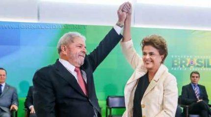 Presidenta Dilma Rousseff durante cerimônia de posse dos novos ministros da Casa Civil, Luiz Inácio Lula da Silva; da Justiça, Eugênio Aragão; da Secretaria de Aviação Civil, Mauro Lopes e do Chefe de Gabinete Pessoal da Presidenta da República, Jaques Wagner (Roberto Stuckert Filho/PR)