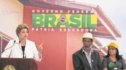 "Em Brasília, a presidente Dilma Rousseff voltou a atacar o impeachment, o qual chamou de ""golpe"" (foto: Lula Marques/Agência PT)"