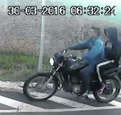 Imagens das câmeras do Residencial Florença capturaram ladrões em fuga