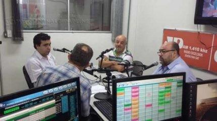 Debate durante o Jornal da Manhã, da Rádio Excelsior Jovem Pan News