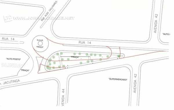 Imagem do projeto preliminar da ampliação da rotatória divulgado pela Prefeitura de Rio Claro