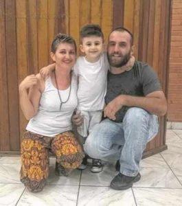 Luís Gustavo e Ilara Uliana, pais do pequeno Davi