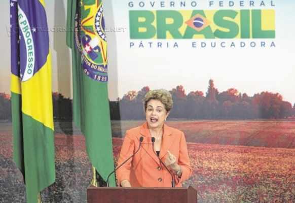A presidente Dilma Rousseff (PT), durante discurso nesta semana em Brasília (foto: Antônio Araújo/ Ministério da Agricultura)