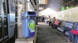População pode ajudar na limpeza utilizando as lixeiras