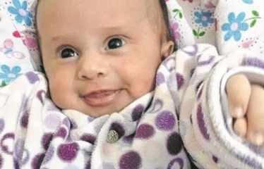 A pequena Maria Morena recebeu o nome em homenagem à avó e a uma santa