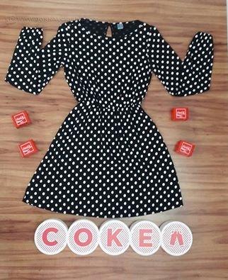 Vestido da grife da Coca-Cola