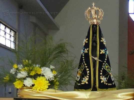 A imagem de Nossa Senhora Aparecida chegou a Piracicaba no dia 5 de junho para as celebrações