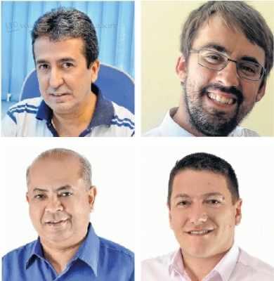 Na sequência: Japyr Pimentel, Renan Sanches, Luiz Silva e Marco Gomes