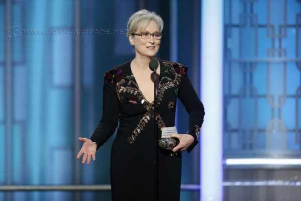 Meryl Streep durante discurso anti-Trump (Foto: Paul Drinkwater/NBC via AP)