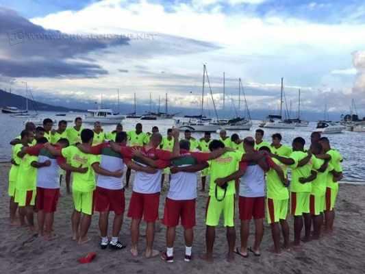 UNIÃO: durante a pré-temporada realizada na Estância Balneária de Ilhabela, jogadores estreitaram as relações de companheirismo