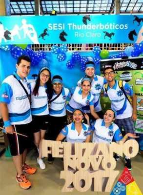 Equipe Thunderbóticos irá para Brasília. A vaga foi conquistada em seletiva regional que reuniu 162 equipes de todo o estado