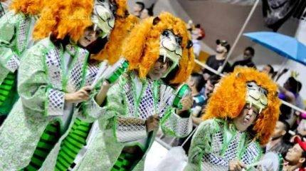 Unidos de Vila Alemã (UVA) pinta o Jardim Público de Verde e Branco nesta segunda de Carnaval