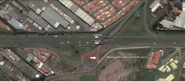 Interdição no viaduto de acesso à Avenida Castelo Branco em Rio Claro