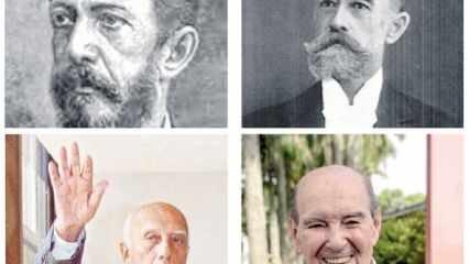 Nas fotos acima: Cerqueira César (esq.) e Alfredo Ellis (dir.). Abaixo, os ilustres Ulysses Guimarães (esq.) e José Felício Castellano (dir.)