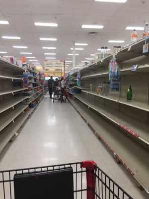 Supermercados locais já registram falta de água e alimentos