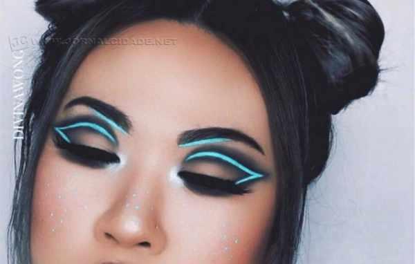 A maquiadora Divina Wong já apostou na tendência neon Foto: Instagram/ @divinawong